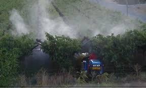 Pesticide spraying.
